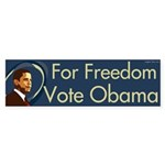 For Freedom Vote Obama bumper sticker