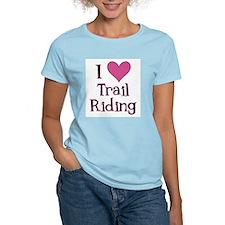 Pink I Heart Trail Riding T-Shirt
