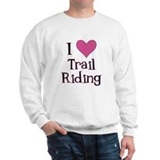 Pink I Heart Trail Riding Sweatshirt