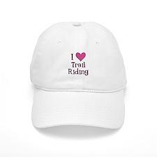 Pink I Heart Trail Riding Baseball Cap