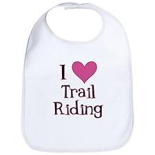 Pink I Heart Trail Riding Bib