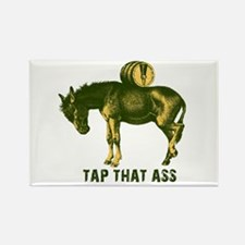 Tap That Ass Donkey Beer Keg Rectangle Magnet (10