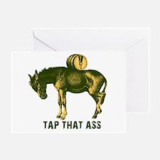 Tap That Ass Donkey Beer Keg Greeting Card