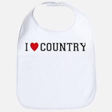 I Love Country Bib