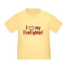 I Heart My Firefighter T