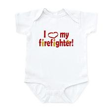 I Heart My Firefighter Infant Bodysuit