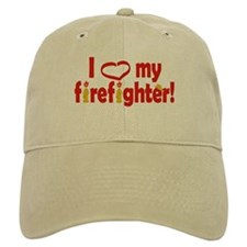 I Heart My Firefighter Baseball Cap