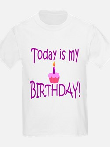 Today Is My Birthday (purple) T-Shirt