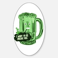 Funny Beer Humor Oval Decal