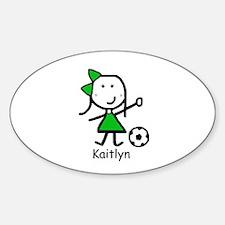 Soccer - Kaitlyn Oval Decal