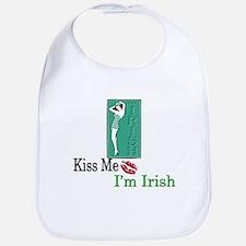 Kiss Me, I'm Irish Bib