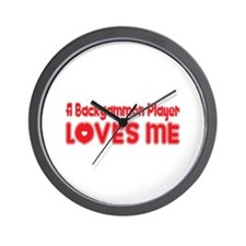 A Backgammon Player Loves Me Wall Clock