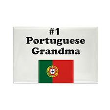 #1 Portuguese Grandma Rectangle Magnet
