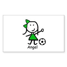 Soccer - Angel Rectangle Decal