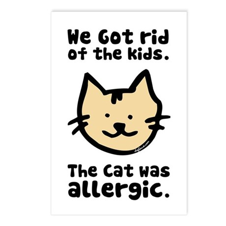 Kept the Cat Postcards (Package of 8)