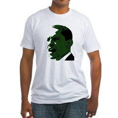 Obama's Face Green Shirt