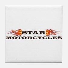 Cute Yamaha motorcycle Tile Coaster