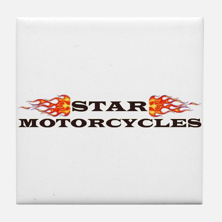 Cute Star motorcycles Tile Coaster