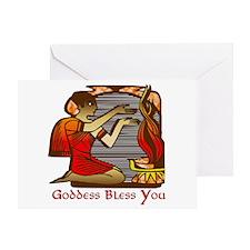 Goddess Bless You Greeting Card