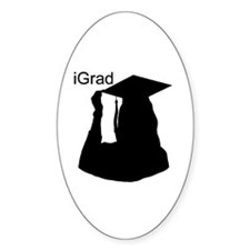 iGrad Oval Decal