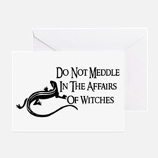 Witch Meddling Greeting Card