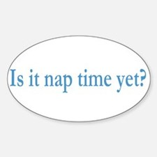 Nap Time Oval Decal