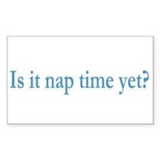 Nap Time Rectangle Decal