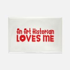 An Art Historian Loves Me Rectangle Magnet