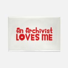 An Archivist Loves Me Rectangle Magnet