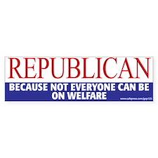 GOP Welfare Bumper Bumper Sticker