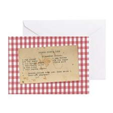 Sponge Cake/Tablecloth Greeting Card