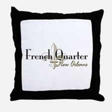 French Quarter New Orleans Throw Pillow