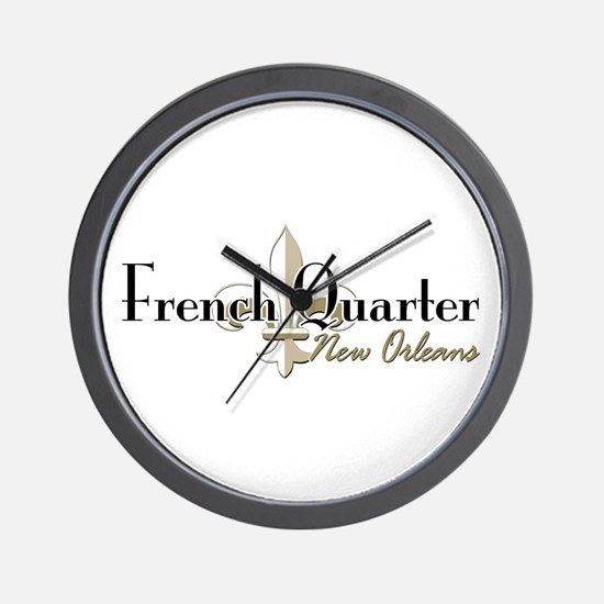 French Quarter New Orleans Wall Clock