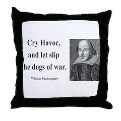 Shakespeare 16 Throw Pillow