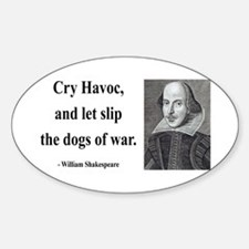 Shakespeare 16 Oval Decal