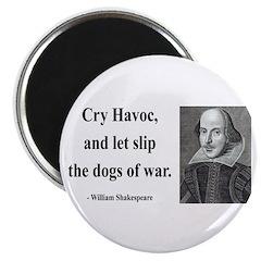 """Shakespeare 16 2.25"""" Magnet (100 pack)"""