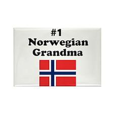 #1 Norwegian Grandma Rectangle Magnet