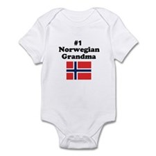 #1 Norwegian Grandma Infant Bodysuit