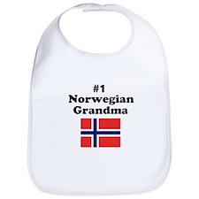 #1 Norwegian Grandma Bib