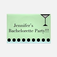 Cute Personalized bachelorette party Rectangle Magnet