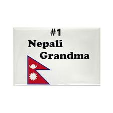 #1 Nepali Grandma Rectangle Magnet