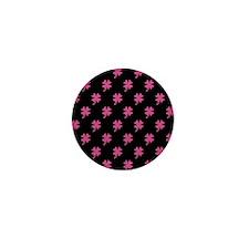 Pink Shamrock Pattern Mini Button