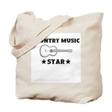 Country Music Star Tote Bag
