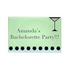 Unique Personalized bachelorette party Rectangle Magnet
