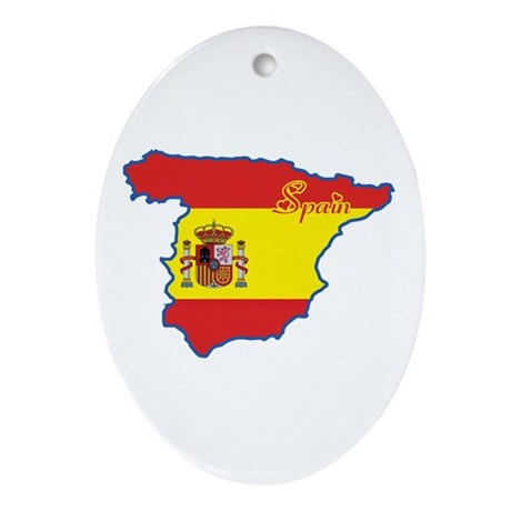 Cool Spain Oval Ornament