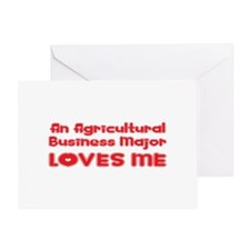 An Agricultural Business Major Loves Me Greeting C