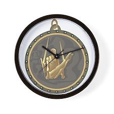 Men's Gymnastics Rings Emblem Wall Clock