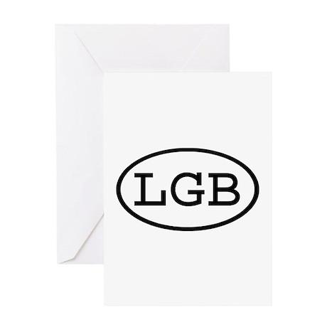 LGB Oval Greeting Card