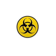 Yellow Biohazard Symbol Mini Button