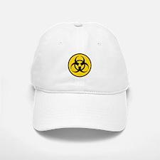 Yellow Biohazard Symbol Baseball Baseball Cap